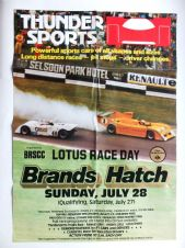 "BRANDS HATCH THUNDERSPORTS /LOTUS RACE DAY 1985 JULY 28  Poster 28 x 19"" ( 700 x 409mm)"